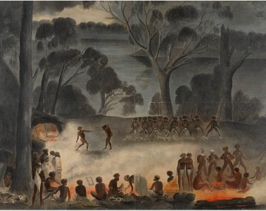 Corroboree on the Murray River by Gerard Krefft, 1858
