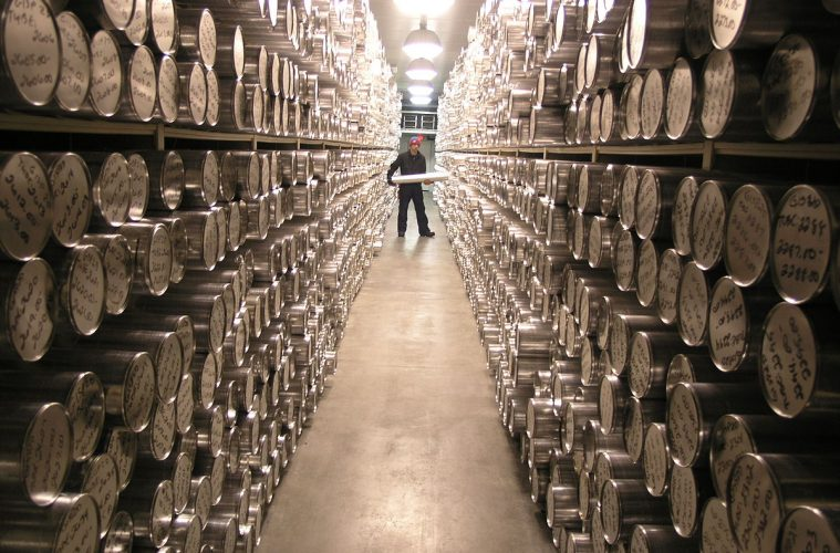 The storage area at the National Ice Core Laboratory in Denver, United States of America, Wikipedia Commons.