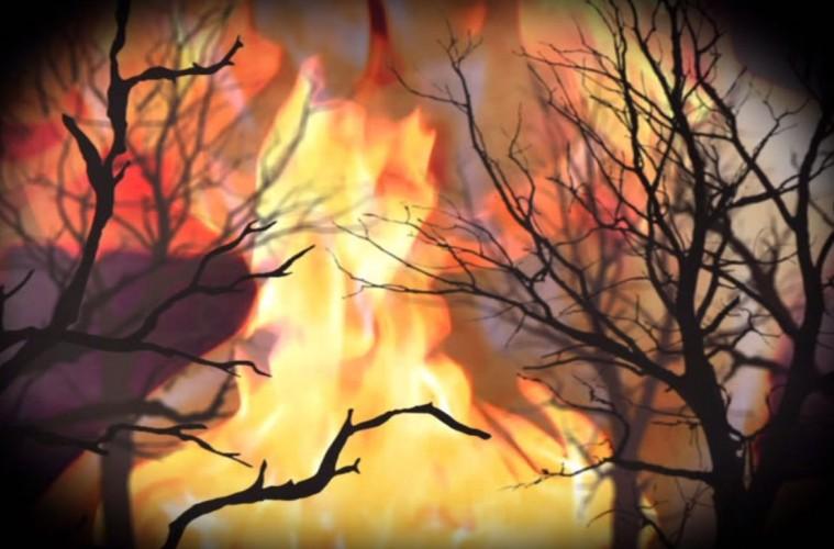 Afterburn flames
